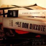Fyodor Dostoevsky, Miguel de Cervantes, Don Quixote, The Prague Cemetary, Umberto Eco, book, booknerd