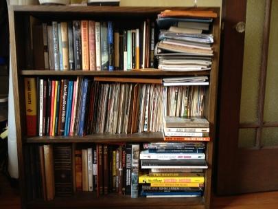 Dads bookcase, books, book