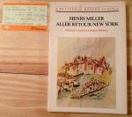 Henry Miller, Aller Retour New York