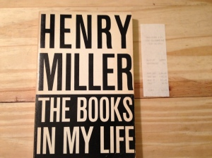 Henry Miller, The Books in My Life