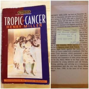 Tropic of Cancer, Henry Miller, tropique du cancer