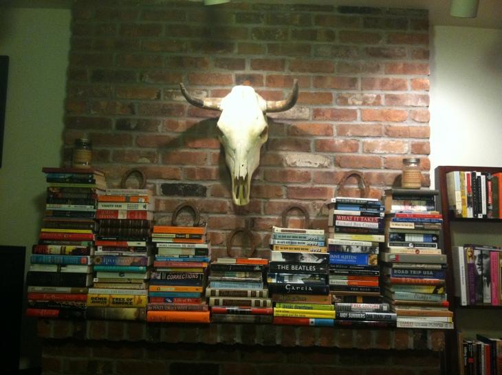Christine, book, books, bookcase, bookshelf