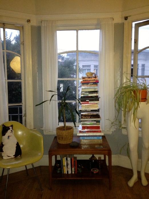 Scotts books, book, stacked window