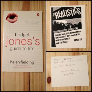 Bridget Jones's Diary, Bridget Jones's Guide to Life, Bridget Jones, The Realistics, Cafe du Nord