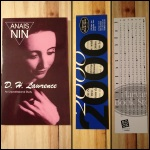 Anais Nin, D. H. Lawrence: An Unprofessional Study, D. H. Lawrence, Harvard Book Store