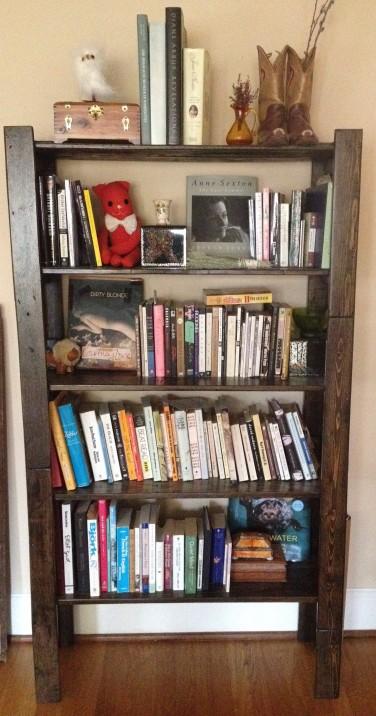 Christina's Seattle apartment bookcase