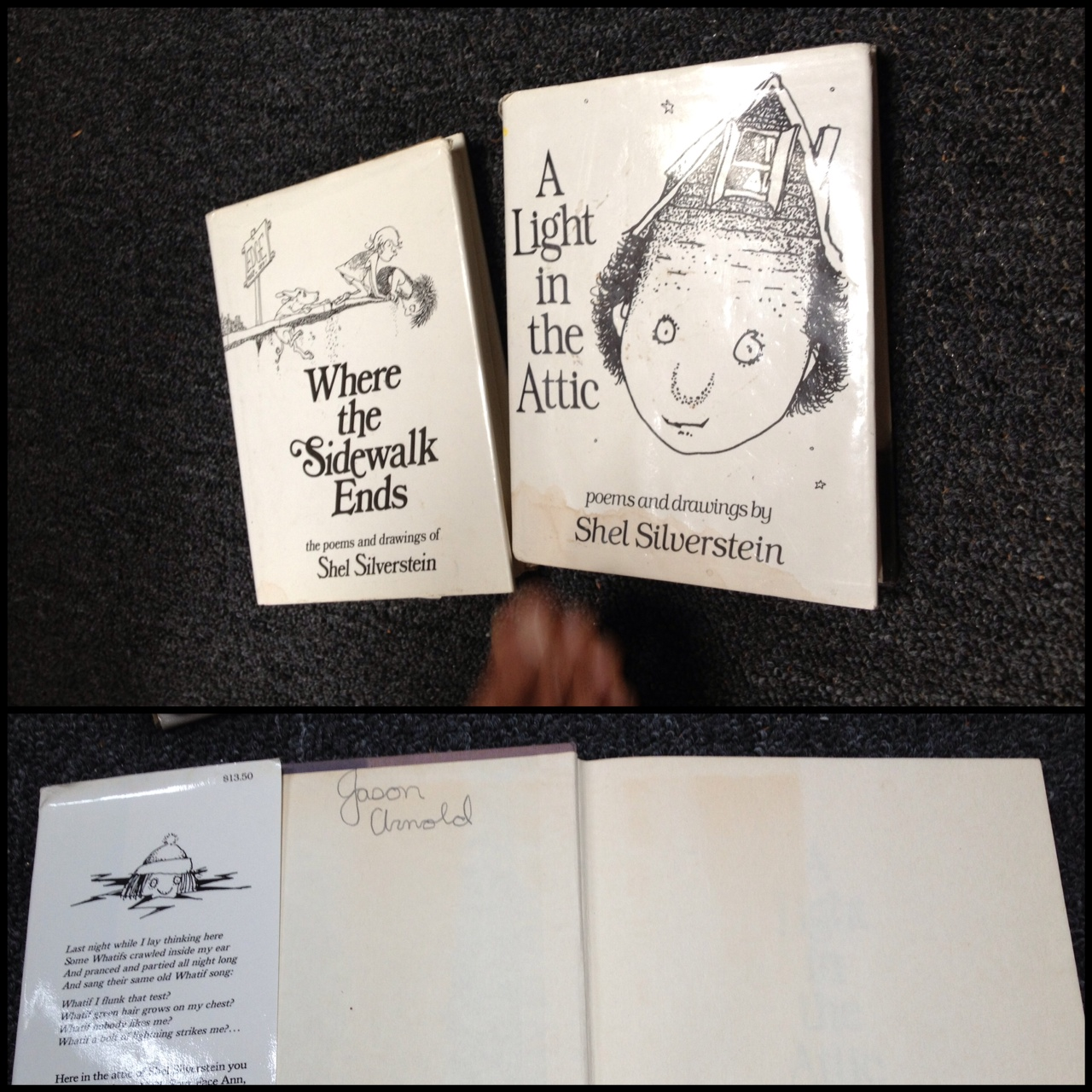 My Arm Is Dedicated To My Childhood Shel Silverstein Was: Creeping On My Friends' Books Part III