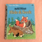 Little Golden Book, The Fox and the Hound, Hide and Seek, Walt Disney