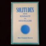 Solitudes From Rimbaud to Heidegger, Marc Froment-Meurice
