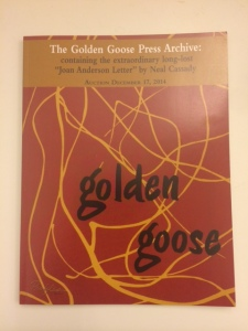Golden Goose Press, Joan Anderson, Neal Cassady