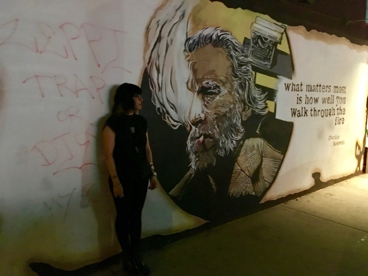 Bukowski Mural, Charles Bukowski, Hank Chinaski, Notes of a Dirty Old Man, Run with the Hunted